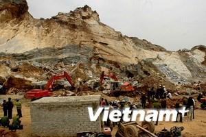 Nguyên nhân ban đầu dẫn đến sập mỏ đá Nghệ An