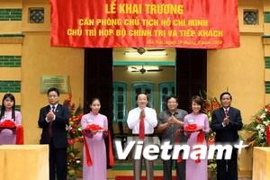 Khai trương di tích nơi Bác Hồ chủ trì họp Bộ Chính trị