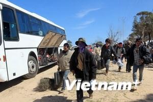Hơn 1.000 lao động từ Libya đã về tới cảng Cái Lân