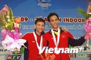 Việt Nam có thêm 2 huy chương vàng môn đá cầu