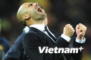 HLV Guardiola phấn khích sau khi vượt qua Real