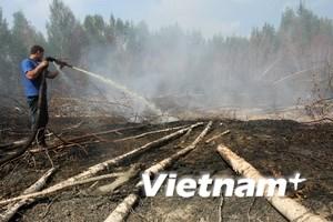 Nga thực thi các biện pháp đối phó với cháy rừng