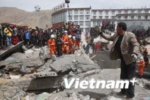 Trung Quốc: Người chết do động đất tiếp tục tăng