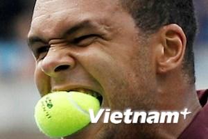 """Jo-Wilfried Tsonga """"ăn bóng"""" tại giải Mỹ mở rộng"""