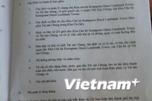 Cư dân tòa nhà Keangnam lại bị áp đặt mức phí mới