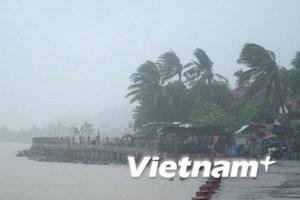 Tâm bão số 11 đi qua thành phố Tuy Hòa