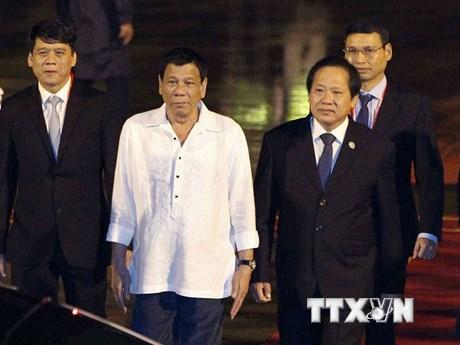[Photo] Tổng thống Philippines đã đến Đà Nẵng tham dự APEC 2017