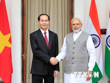[Photo] Chủ tịch nước thăm cấp Nhà nước tới Cộng hoà Ấn Độ