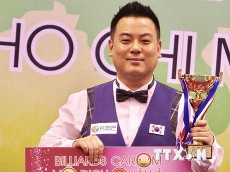 [Photo] Hàn Quốc độc diễn ở nội dung 3 băng Billiards Carom châu Á
