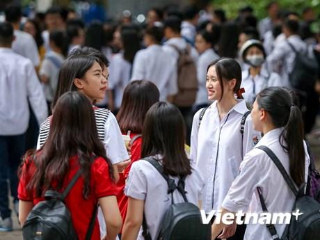 [Photo] Thí sinh hào hứng với những thay đổi trong kỳ thi tốt nghiệp