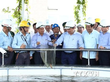 Hình ảnh Thủ tướng thị sát hệ thống xử lý nước thải Formosa Hà Tĩnh