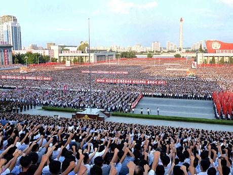 """[Photo] """"Biển người"""" Triều Tiên thách thức lời đe dọa của Mỹ"""