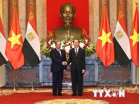 [Photo] Hình ảnh buổi hội đàm giữa Chủ tịch nước và Tổng thống Ai Cập
