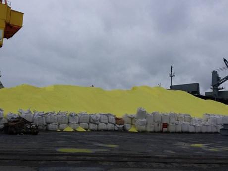 Hơn 3 vạn tấn lưu huỳnh tại Cảng Hoàng Diệu có gây ô nhiễm?