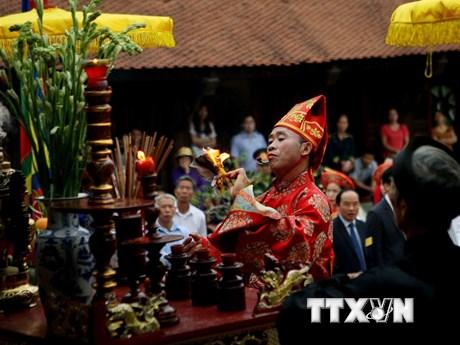 [Photo] Nghi thức tế lễ tại Đền thờ Đức Quốc Tổ Lạc Long Quân