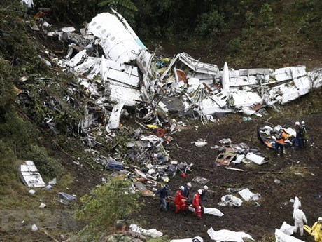 Công bố nguyên nhân tai nạn máy bay chở đội bóng đá của Brazil