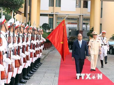 Hình ảnh Thủ tướng Nguyễn Xuân Phúc dự hội nghị về công an nhân dân