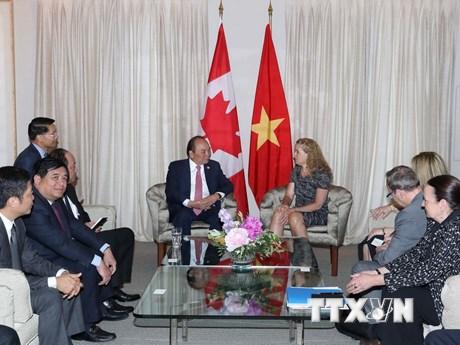 Hình ảnh về hoạt động của Thủ tướng Nguyễn Xuân Phúc tại Canada