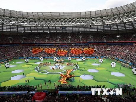 Những hình ảnh ấn tượng tại lễ khai mạc World Cup 2018