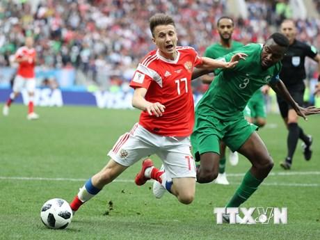 """Hình ảnh Nga """"đè bẹp"""" Saudi Arabia trong trận mở màn World Cup 2018"""