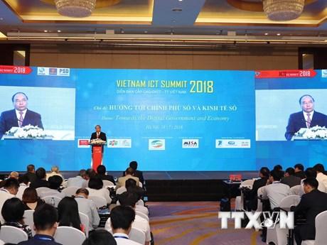 Hình ảnh Thủ tướng dự Diễn đàn cấp cao CNTT-Truyền thông 2018