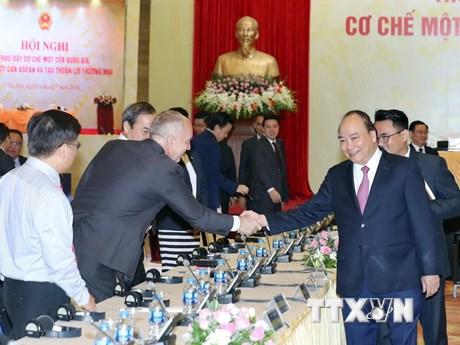 Hình ảnh Thủ tướng dự Hội nghị thúc đẩy cơ chế một cửa quốc gia