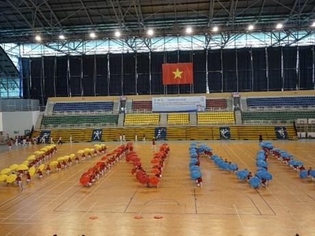 Hình ảnh biểu diễn tại giải thi đấu thể dục dưỡng sinh TP. Hồ Chí Minh