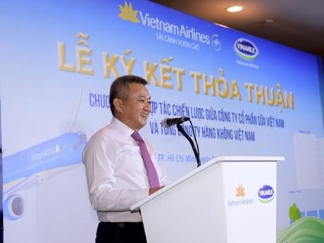Hình ảnh bước hợp tác phát triển mới giữa Vietnam Airlines và Vinamilk