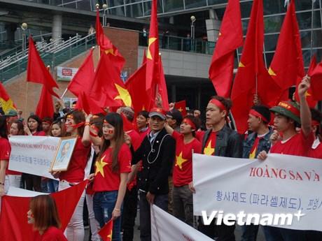 [Photo] Người Việt ở Hàn phản đối hành động của Trung Quốc ở Biển Đông