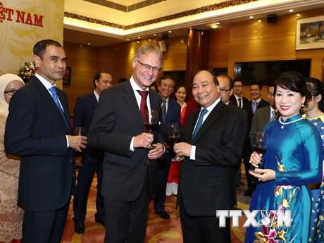 [Photo] Thủ tướng chủ trì tiệc chiêu đãi kỷ niệm 72 năm Quốc khánh