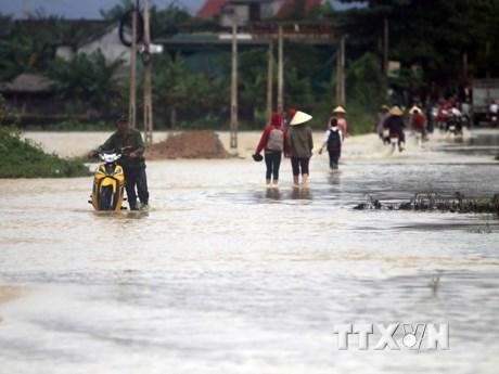 Hình ảnh các tỉnh, thành phố bị ngập lụt nặng do áp thấp nhiệt đới