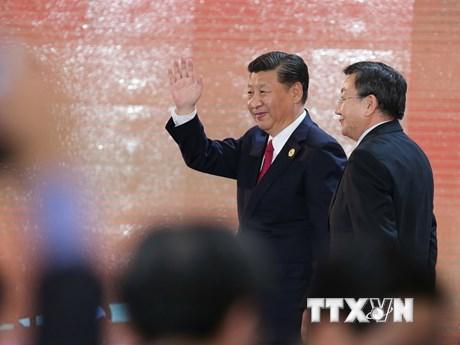 Hình ảnh Chủ tịch Trung Quốc phát biểu tại CEO Summit 2017