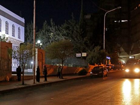 Hình ảnh thủ đô Damascus của Syria sau cuộc không kích của liên quân
