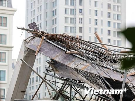 [Photo] Quang cảnh ngổn ngang vụ sập trường mầm non ở Mỹ Đình
