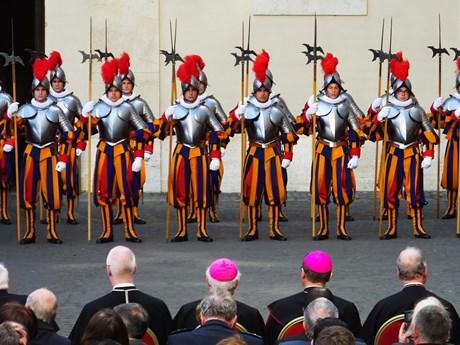 Hình ảnh đặc biệt về đội vệ binh Thụy Sĩ bảo vệ Giáo hoàng