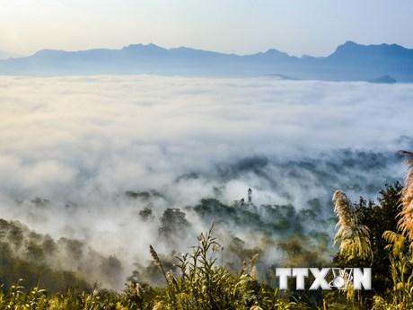 [Photo] Ngắm nhìn biển mây thơ mộng trên đèo Tằng Quái