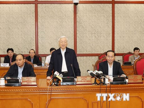 [Photo] Bộ Chính trị làm việc với Ban Thường vụ Thành ủy Hà Nội