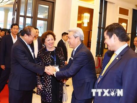 [Photo] Thủ tướng gặp gỡ đại diện các tập đoàn kinh tế dự APEC