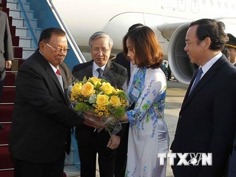 [Photo] Tổng Bí thư, Chủ tịch nước Lào thăm chính thức Việt Nam