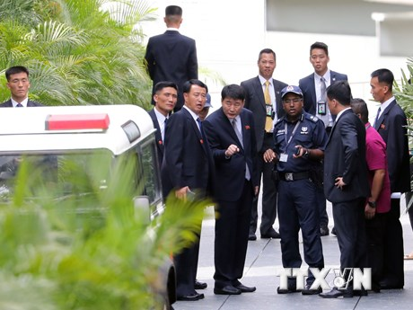 Những hình ảnh nhà lãnh đạo Triều Tiên Kim Jong-un tại Singapore