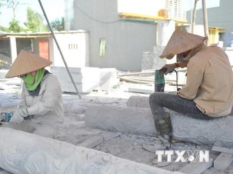 [Photo] Ô nhiễm môi trường tại làng đá mỹ nghệ Ninh Vân