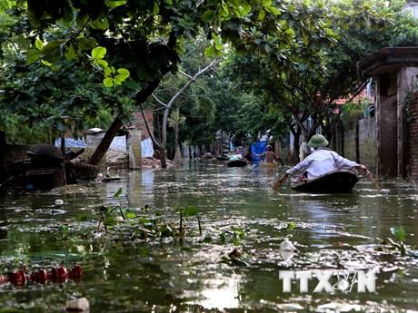 Rác thải tràn ngập khắp nơi tại Chương Mỹ sau khi nước rút