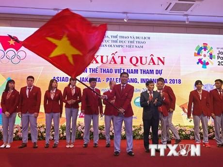 Hình ảnh Đoàn thể thao Việt Nam xuất quân tham dự ASIAD 2018