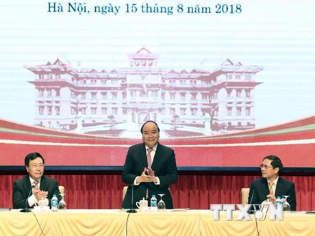 [Photo] Hình ảnh Thủ tướng dự Hội nghị Ngoại giao lần thứ 30