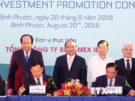 Hình ảnh Thủ tướng dự Hội nghị xúc tiến đầu tư tỉnh Bình Phước