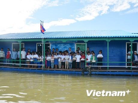 [Photo] Khánh thành trường học cho con em Việt kiều ở Campuchia