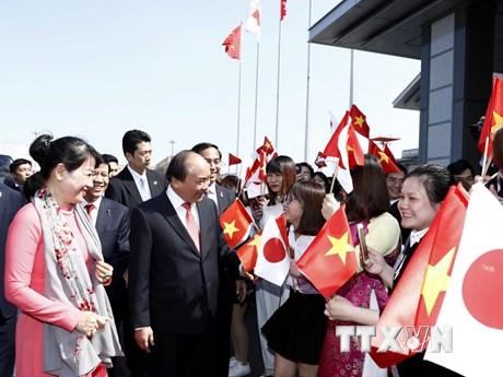 [Photo] Lễ đón Thủ tướng Nguyễn Xuân Phúc ở thủ đô Tokyo