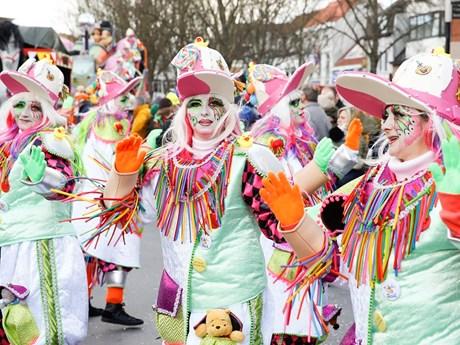 [Photo] Hàng nghìn người dự lễ hội hóa trang đầy màu sắc ở Bỉ