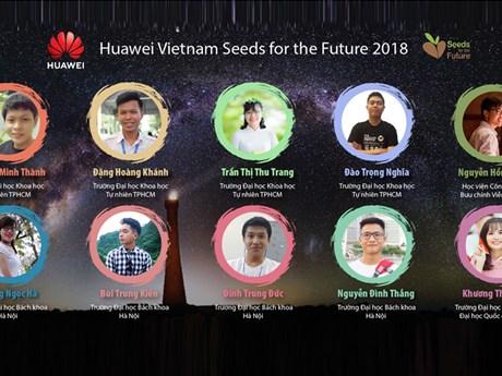 10 sinh viên Việt tiếp cận với công nghệ mới nhất của Huawei