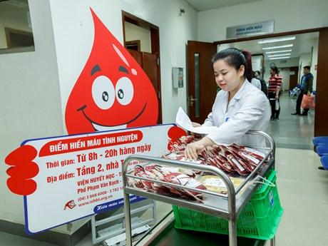 """Các y bác sỹ hiến máu ở chương trình """"Chào Xuân hồng 2018"""""""